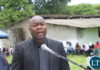 Copperbelt Minister Bowman Lusambo making his remarks at the funeral late Ben Kapita