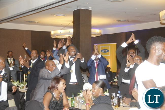Some elated ZANACO Club officials.
