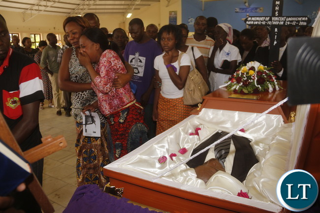 Funeral of the late Rwandian Business Man who was shot dead during the week. Picture by Jean Mandela