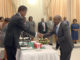 Mr John Moyo being sworn in as Health Permanent in Charge of Administration