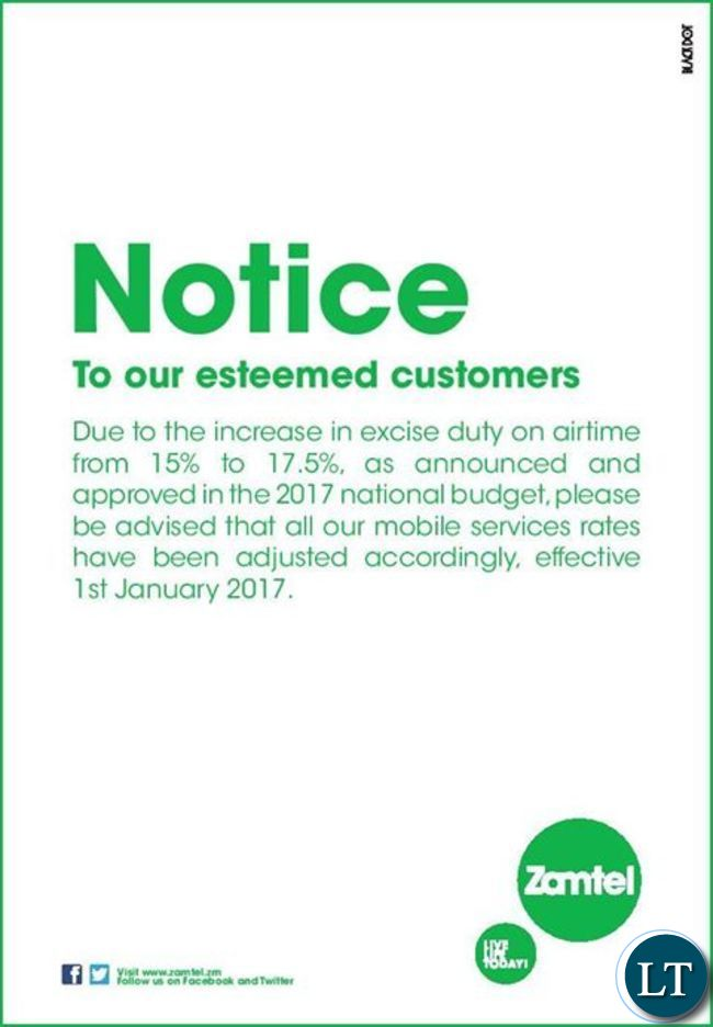 ZAMTEL notice