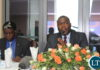 Copperbelt Minister Bowman Lusambo makes his remarks during the Copperbelt Consultative meeting in Ndola