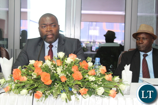 Coppperbelt Minister Hon. Bowman Lusambo speaking at the Copperbelt Consultative meeting