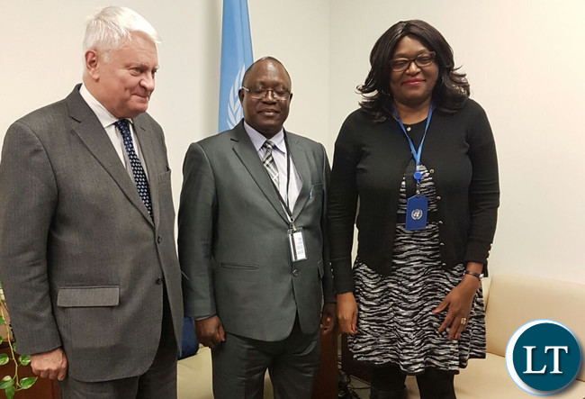 Lt. Gen Mihova and UN USG Herve? Ladsous and Amb. Kasese-Bota