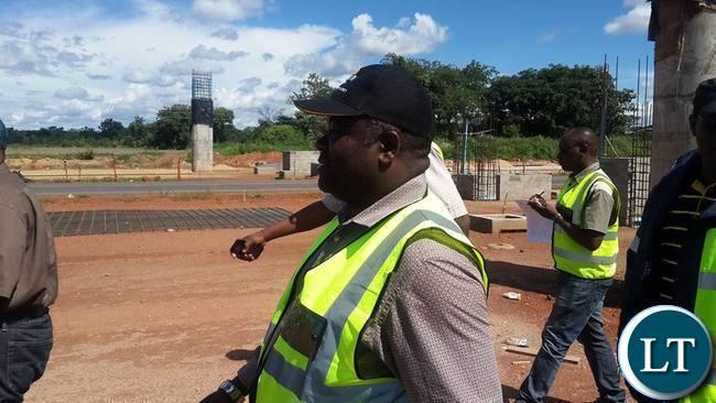 Mr Chitotela inspecting Kafulafula toll plaza