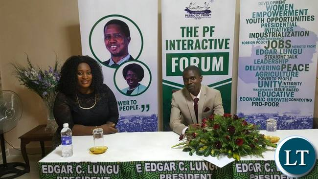 Nathan Chanda answering questions during the question and answer session at the PF interactive forum