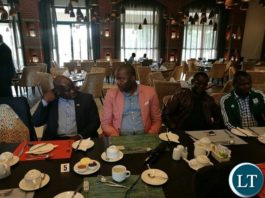 The PF MPs based on the Copperbelt during a news conference at Protea Hotel in Ndola