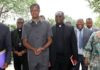 President Lungu with Archdiocese of Lusaka Archbishop Telesphore George Mpundu, Diocese of Solwezi Bishop Charles Kasonde, Diocese of Ndola Bishop Dr Alick Banda, Diocese of Mpika Bishop Justin Mulenga, Diocese of Livingstone Bishop Valentine Kalumba and Diocese of Chipata George Zumaile Lungu. This was when the Catholic Bishops paid a courtesy call on the Head of State at State House on Friday, January 20,2017 -Pictures by EDDIE MWANALEZA