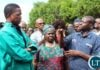 EASTERN Province Agricultural Coordinator, Roy Lumamba explains to President Edgar Lungu, when the Head of State inspected fields affected by Army Worms in Lundazi of Saturday. PICTURE BY STEPHEN MUKOBEKO/ZANIS