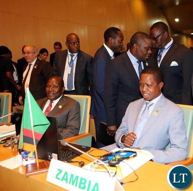 President Lungu at the AU