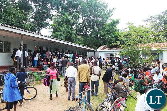 Farmers Queuing up for Electronic Voucher Cards Collection in Mansa District