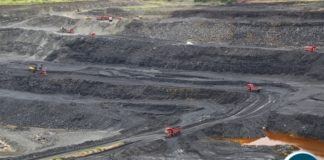 Maamba coal open pit mine provides coal for the thermal plant operations and sells surplus to cement manufacturing companies. Above is the aerial view picture of the mine.