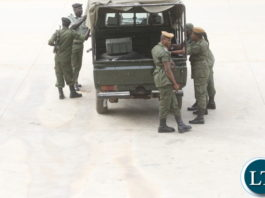 Zambia Police at the meeting to maintain Law and Order
