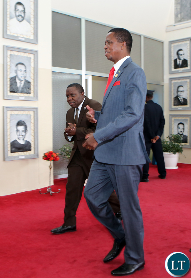 President Edgar Lungu departs Addis Ababa Ethiopia at the End of AU Summit - Pictures Eddie Mwanaleza/Statehouse.