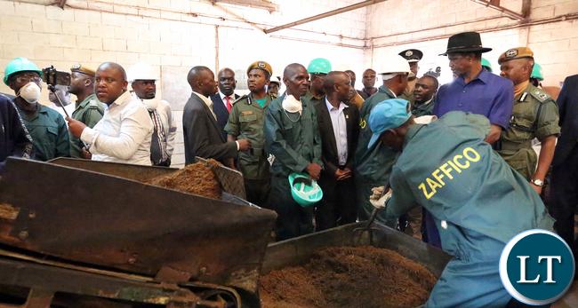 President Lungu Tour Kawambwa Tea Factory