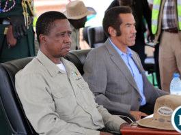The President EdgarLungu with President of Botswana, H.E Ian Khama