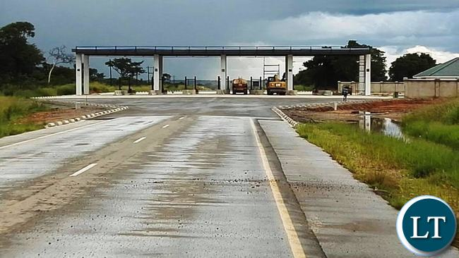 A new toll plaza being constructed in Chisamba.