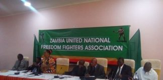 Christine Mulundika speaking during the launch of the association