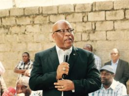 Dr Nevers Mumba at the news conference