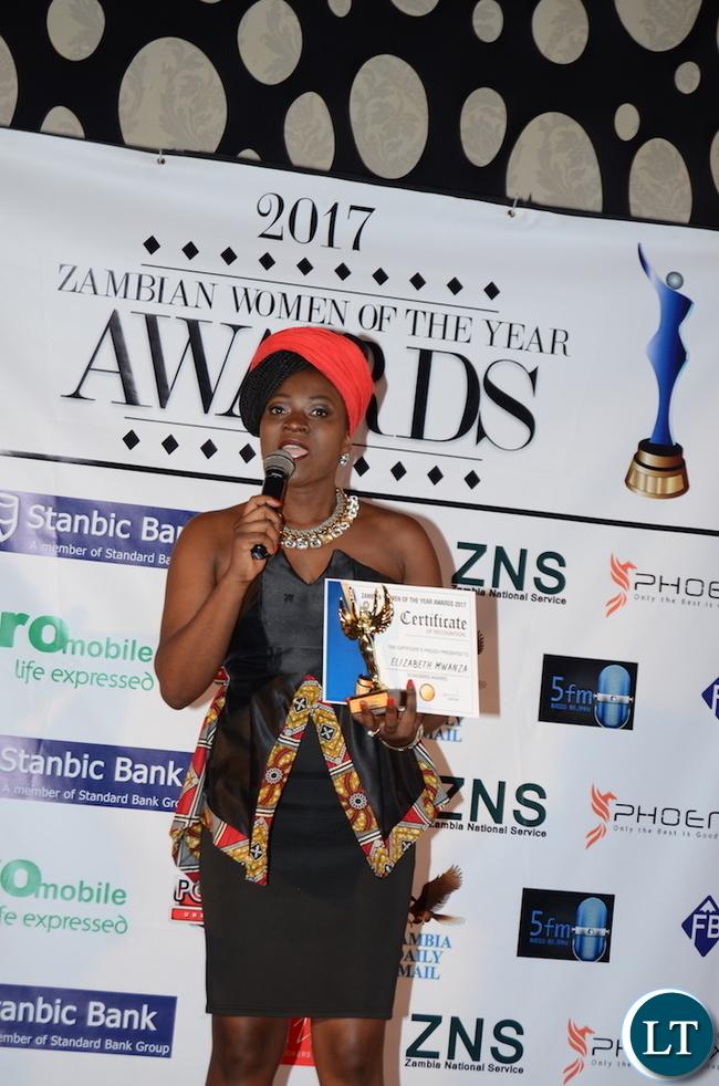 Elizabeth Mwanza -SongBird Award11