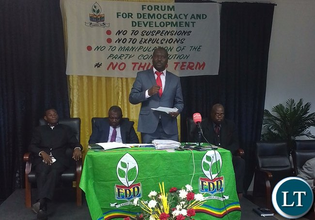 Save FDD committee national coordinator Lawrence Mwelwa