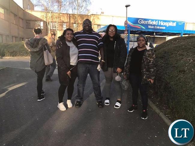 Kambwili with family in UK