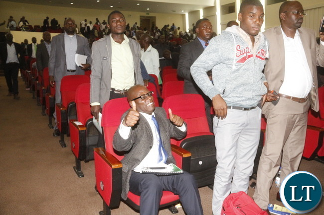 Medical Stars Chairperson Alex Mambwe in jubilation at the end of FAZ AGM