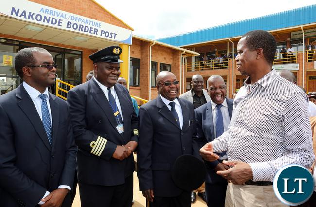 President Edgar Lungu Tour Zambia Tanzania border at Nakonde