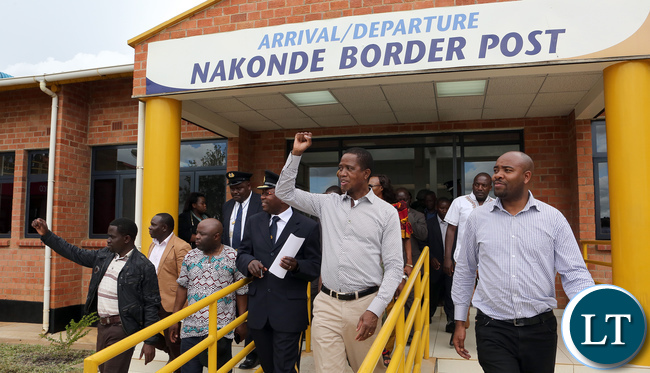 President Edgar Lungu tours Nakonde Border