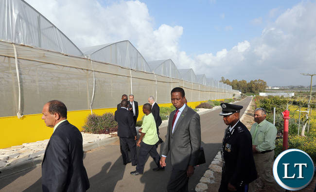 President Edgar Lungu with Mr Refael Dayan CEO Of Green 2000 Agricuktural Euipment and Know How Company in Israel