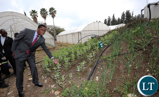 President Lungu on tours of the Reach and development of Netafim in Kibbutz Magal in Israel