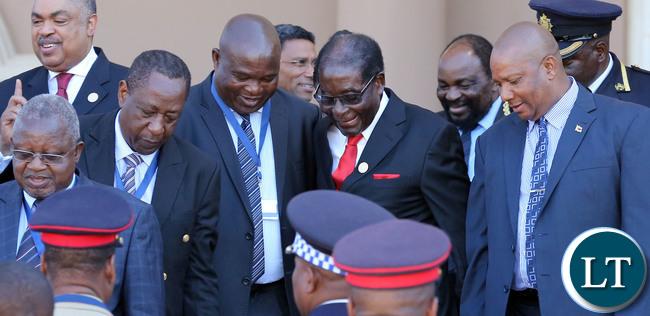 President Robert Mugabe at the SADC Summit