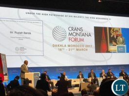President Rupiah Banda sharing the platform with Civil Rights Activist Jesse Jackson at the Crans Montana Conference