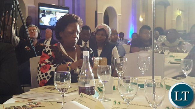 Labour and Social Security Minister, Mrs. Joyce Nonde-Simukoko at the Jobs for Youths in Africa (JFYA) regional ministerial conference in Pretoria on 27th February, 2017