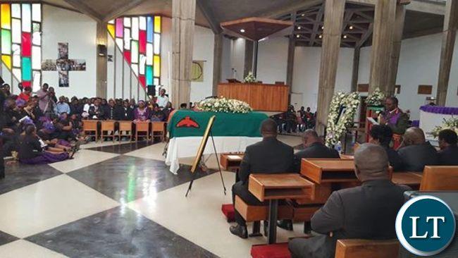 Funeral Service  of the Late Regina Chiluba