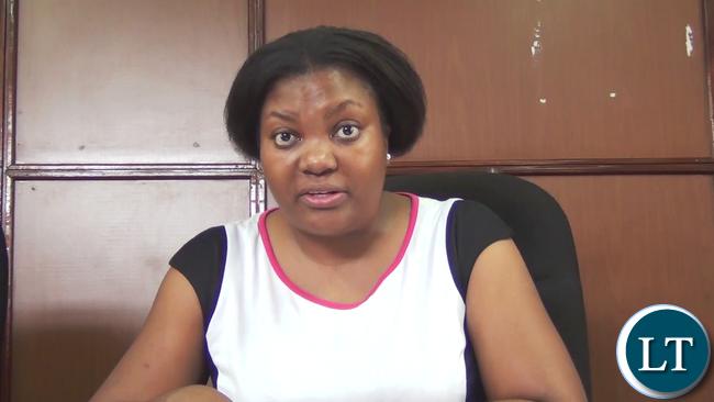 DEC Public Relations Officer Theresa Katongo
