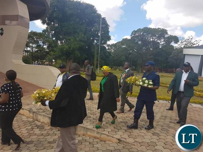 Visiting Delegates from South African's ruling Party, the African National Congress Youth League (ANC) and Zimbabwe African National Union Patriotic Front (ZANU-PF)  Visiting  Presidential Memorial Park