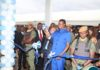 President Edgar Lungu officially cuts the ribbon to open the NRB Pharma Zambia Limited at the Lusaka South Multi facility Economic Zone