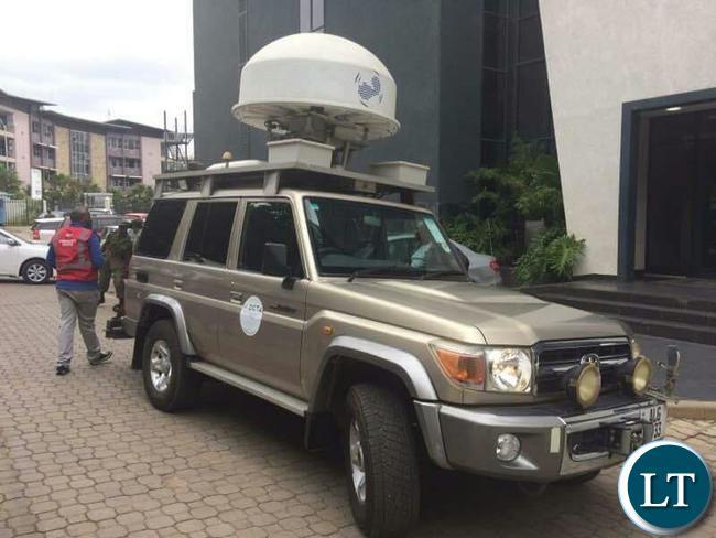 A ZICTA van at CEC Liquid Telecom Headquarters