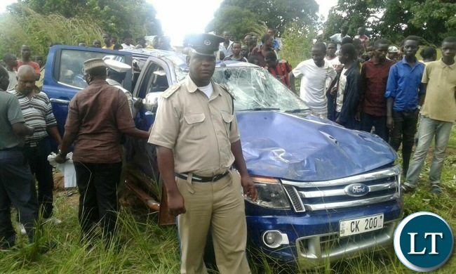 The Vehicle Kambwili was travelling in