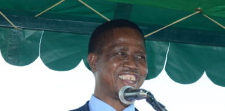 President Lungu Addressing People that came to Welcome him