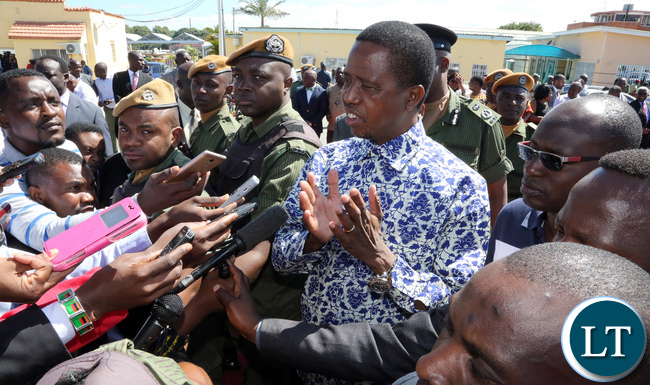 Edgar Lungu Zambian president threatens to declare state of emergency
