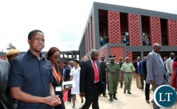 President Lungu on arrival at Chilenje Level 1 Hospita