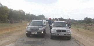 The two motorcades-President Lungu's and HH's motorcade 'clash' in Mongu on Saturday