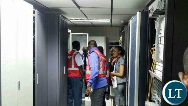ZICTA officers at CEC Liquid Telecom