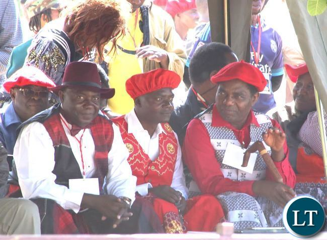 UPND leader Hakainda Hichilema following the proceedings of the 2017 Kuomboka Ceremony at Lealui Palace grounds