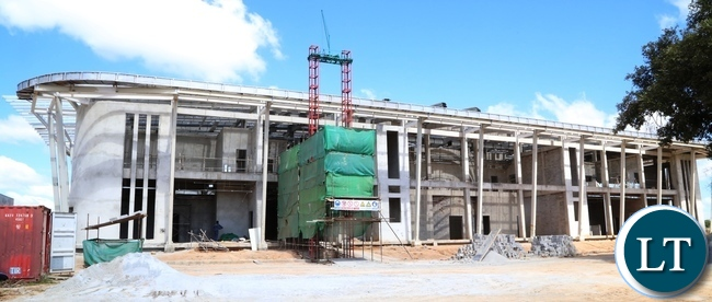 Presidential Pavilion at Kenneth Kaunda International Airport under construction has reached advanced stage at 50% and the construction is done by China Jianxi