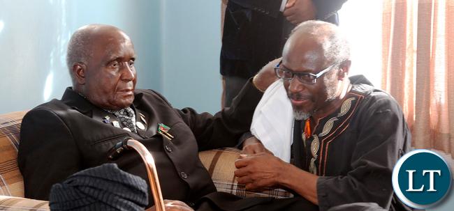 Dr Kenneth Kaunda with Bishop Mwansa Kapwepwe