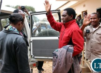 UPND President Hakainde Hichilema leaving the court