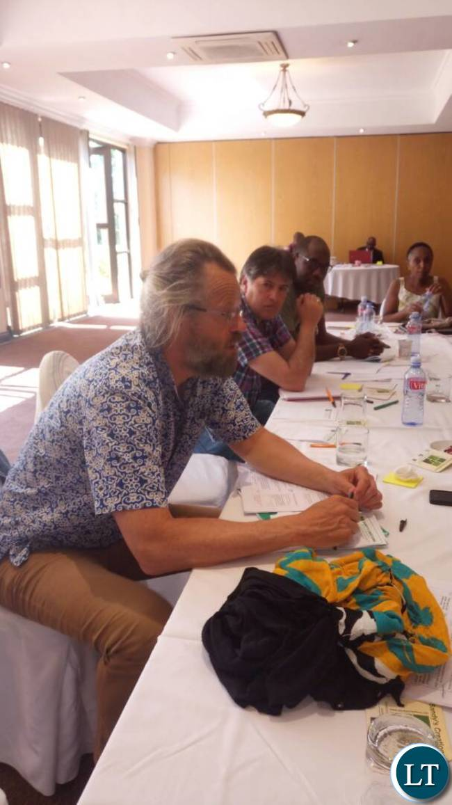 Hivos Senior Programme Manager for Sustainable Diets Frank Mechielsen at the ongoing Sustainable Diets for All (SD4ALL) meeting in Lusaka